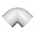 10x 1.5in 90 Deg Elbow White