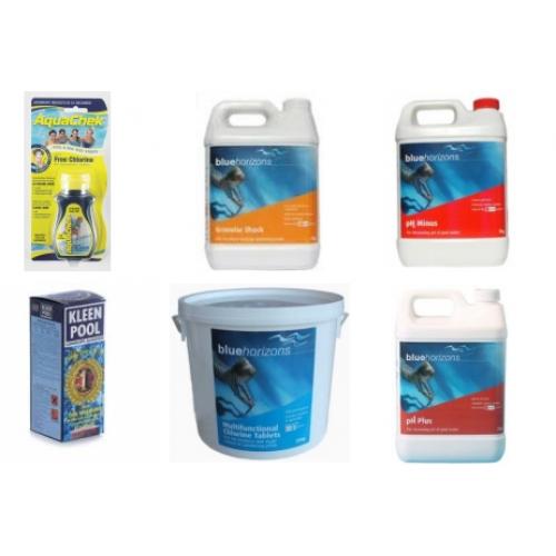 Swimming Pool Chemical Season Starter Kit