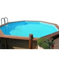 Wooden Pool Stainless Steel Ladder